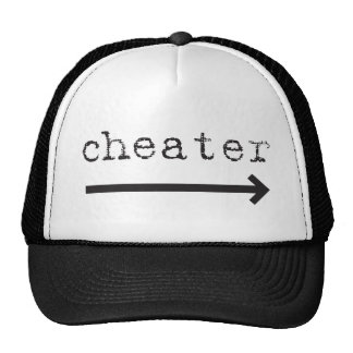 cheater arrow trucker hat