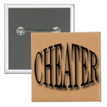 Cheater black pinback buttons