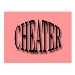 Cheater black post card