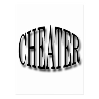 Cheater black postcard
