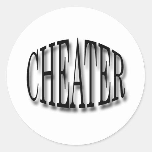 Cheater black round sticker