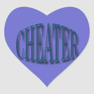 Cheater blue heart sticker
