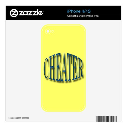Cheater blue iPhone 4 decals