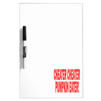 Cheater Cheater Dry-Erase Whiteboard