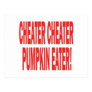 Cheater Cheater Postcard