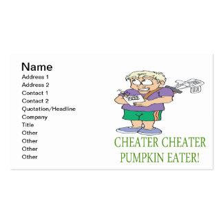 Cheater Cheater Pumpkin Eater Business Cards