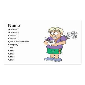 Cheater Cheater Pumpkin Eater Business Card Template