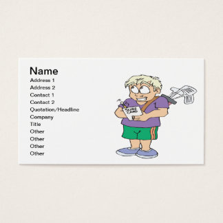 Cheater Cheater Pumpkin Eater Business Card
