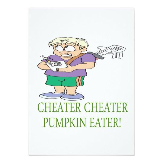 Cheater Cheater Pumpkin Eater Card