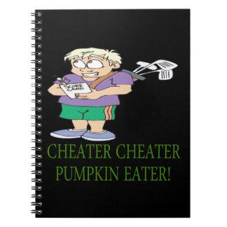 Cheater Cheater Pumpkin Eater Spiral Notebook