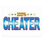 Cheater Star Tag v2 Postcard