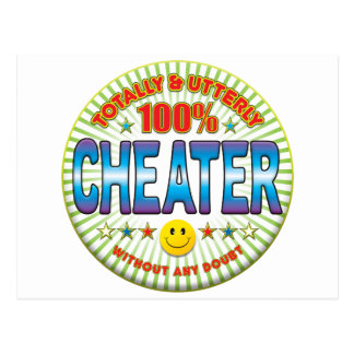 Cheater Totally Postcard