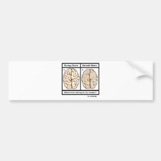 Cheating Brain Bumper Sticker