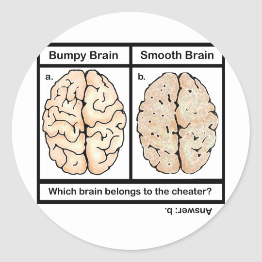 Cheating Brain Classic Round Sticker