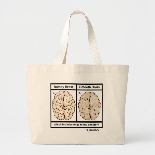 Cheating Brain Large Tote Bag