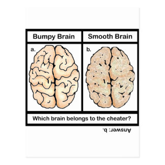 Cheating Brain Postcard