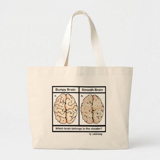 Cheating Brain Tote Bags