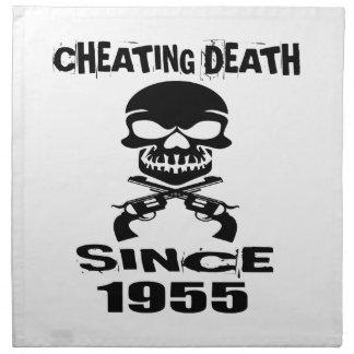 Cheating Death Since 1955 Birthday Designs Napkin