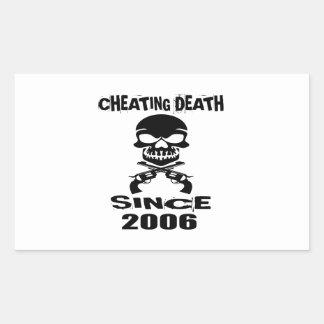 Cheating Death Since 2006 Birthday Designs Rectangular Sticker