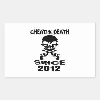 Cheating Death Since 2012 Birthday Designs Rectangular Sticker