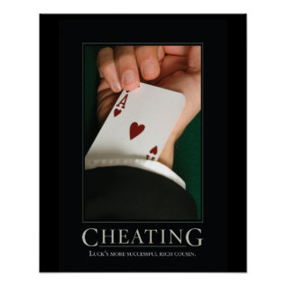 Cheating Demotivational Posters at Zazzle