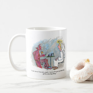 Cheating Thing right hand cartoon mug