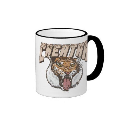 Cheating Tiger Cheetah Ringer Coffee Mug