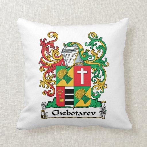 Chebotarev Family Crest Throw Pillows