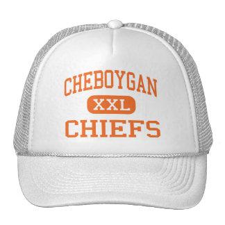 Cheboygan - jefes - alto - Cheboygan Michigan Gorras De Camionero