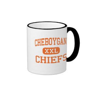 Cheboygan - jefes - alto - Cheboygan Michigan Tazas