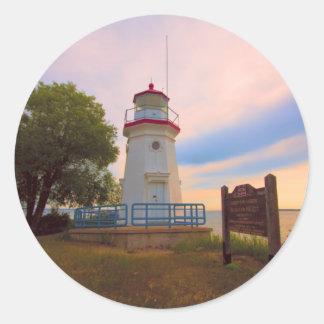 Cheboygan Lighthouse #6569 Round Stickers