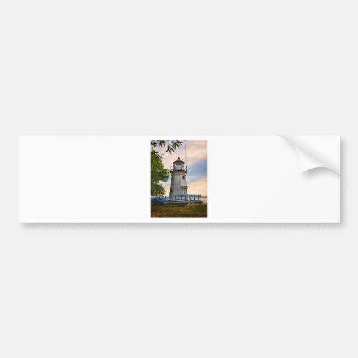 Cheboygan Lighthouse #6578 Car Bumper Sticker