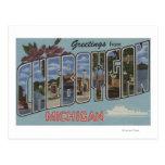 Cheboygan, Michigan - escenas grandes de la letra Tarjetas Postales