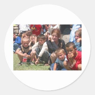 Chechen Children Classic Round Sticker