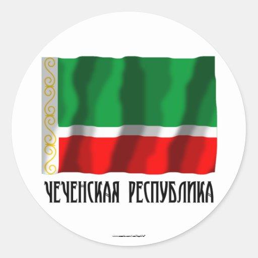 Chechen Republic Flag Classic Round Sticker