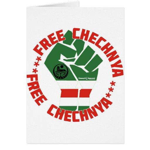 Chechenia libre tarjeta de felicitación
