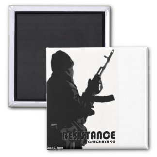 Chechnya Resistance 2 Inch Square Magnet