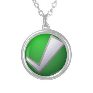 check-303 round pendant necklace
