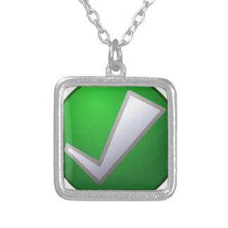 check-303 square pendant necklace