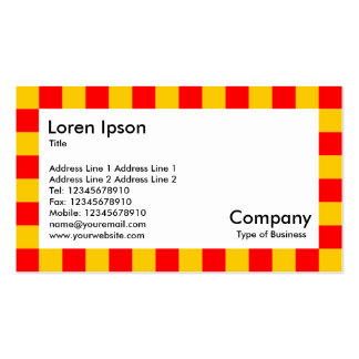 Check Border - Red and Amber Double-Sided Standard Business Cards (Pack Of 100)