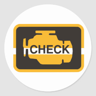 Check Engine Light Stickers