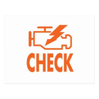 Check Engine Postcard