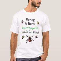 Check for Ticks Lyme Disease Awareness T-Shirt