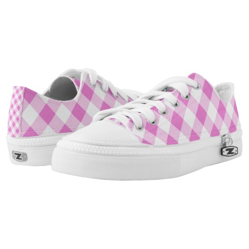 Pink Gingham Shoes Size