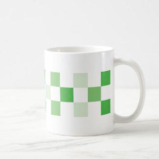 check-green coffee mug