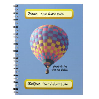 Check-It-Out Hot Air Balloon Notebook