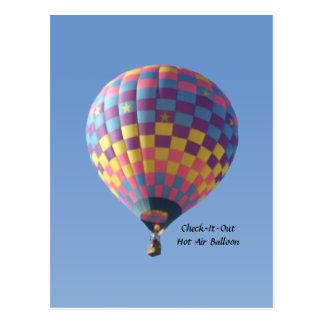 Check-It-Out Hot Air Balloon Postcard