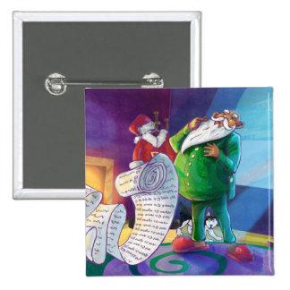 Check it Twice Santa Pinback Button