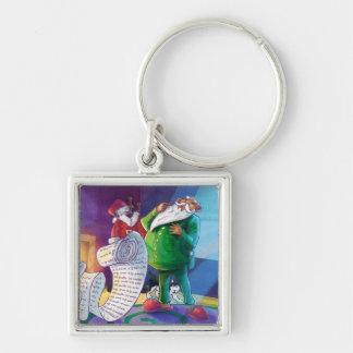 Check it Twice Santa Silver-Colored Square Keychain