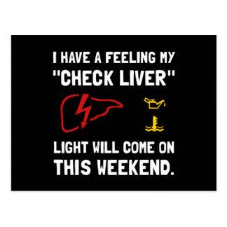 Check Liver Light Postcard